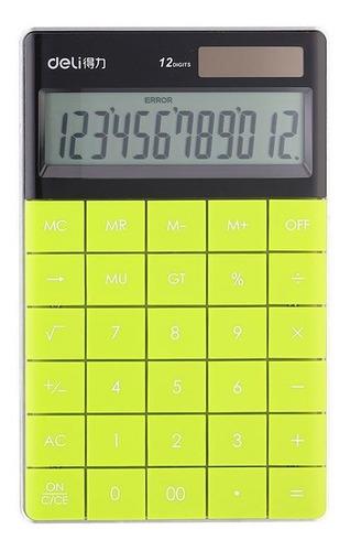 Imagen 1 de 4 de Calculadora De Escritorio Verde Deli E1589