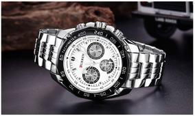 Relógio Curren Masculino Importado Original Inox