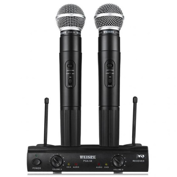 2 X Microfone Sem Fio Uhf Weisre Pgx-58