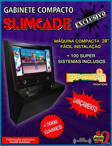 Máquina Fliperama Slimcade, Máquina Compacta 28