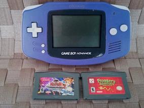 Nintendo Game Boy Advance Gba Console + 2 Jogos Yu Gi Oh