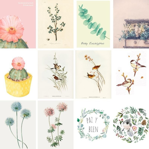Set De Laminas Archivos Digitalesx5u Para Imprimir Para Cuadros Decorativos Mercado Libre