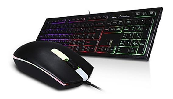 Kit Teclado Mouse Gamer Retroiluminado V200 Cable Usb