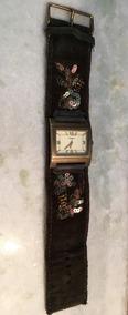 Relógio Fossil Camurça Marrom Bordado Original