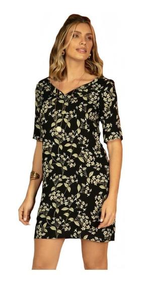 Vestido Feminino Curto Estampado Florido Soltinho Plus Size