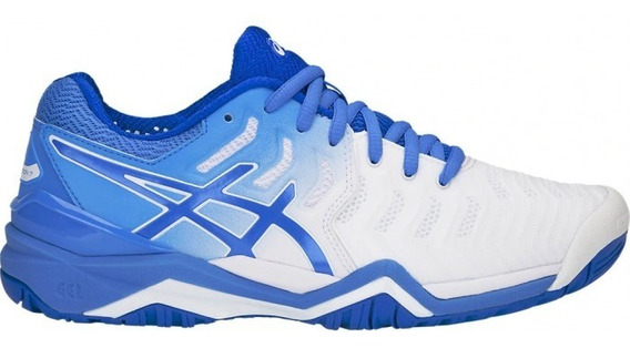 Tenis Asics Mujer Blanco Gel Resoluition 7 E751y101