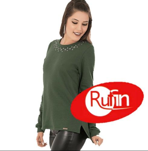 Imagem 1 de 1 de Blusa De Moletom Verde Musgo 34867 Oferta Promoção Stras