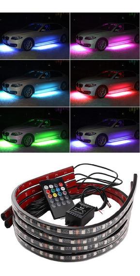 Led Neon Externo Luz Embaixo Carro 8 Cores Rgb Universal