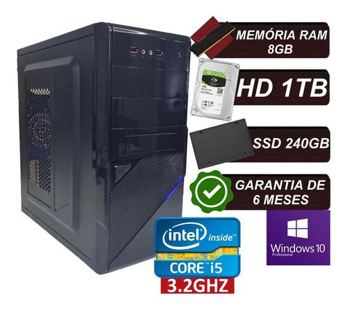 Imagem 1 de 5 de Pc Computador Cpu I5 / Hd 1tb + Ssd 240gb / 8gb Memória Ram