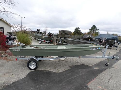 Imagen 1 de 14 de Bote Aluminio Americano Polar Kraft Casco Chata Pesca Nautic