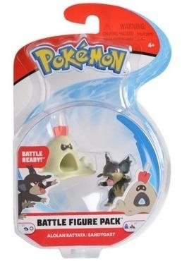 Figura Pokemon Pack Batalla: Rattata De Alola Vs Sandygast (