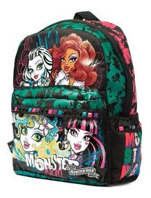 Mochila Espalda Monster High 16 Pulg Orig Dm405 Mundo Manias