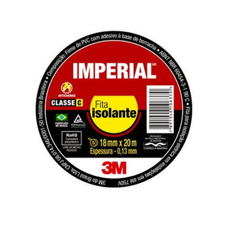 Kit 20 Fita Isolante Imperial Slim 18x20 Metros 3m