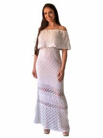 Vestidos Longos Casuais De Tricot Ciganinha Verão 2018