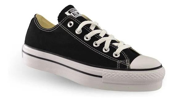 Converse Plataformas Lona Negras 557144c Nuevas Moda