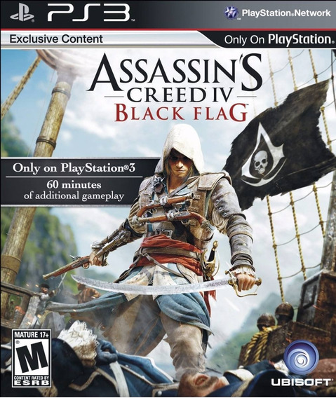 Assassins Creed Iv Black Flag (mídia Física) - Ps3