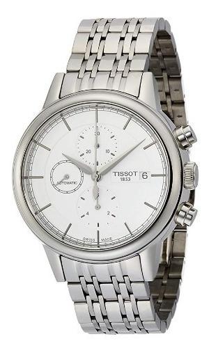 Relógio Tissot Carson Automático Branco/prata/aço Cronógrafo