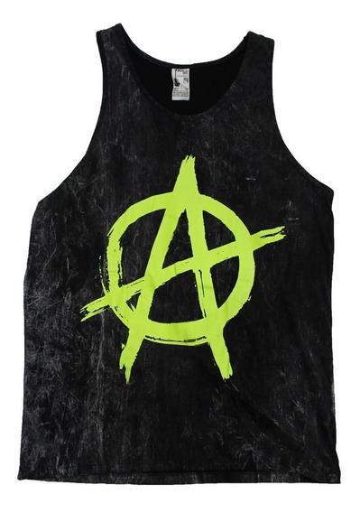 Musculosa Little Rock Original Green Anarchy 0057