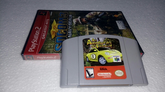 As Aventuras Do Fusca N/64 Gradiente + 1 Jogo Play 2 Novo.