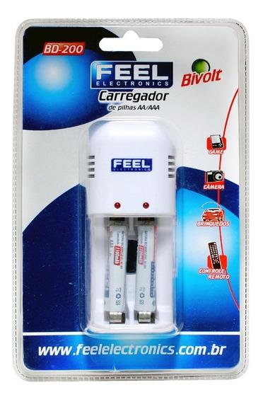 Carregador De Pilhas Aa/aaa Feel C/2 Kits.