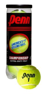 Pelotas Tenis Marca Penn Modelo Championship Tarro 3 Unid.