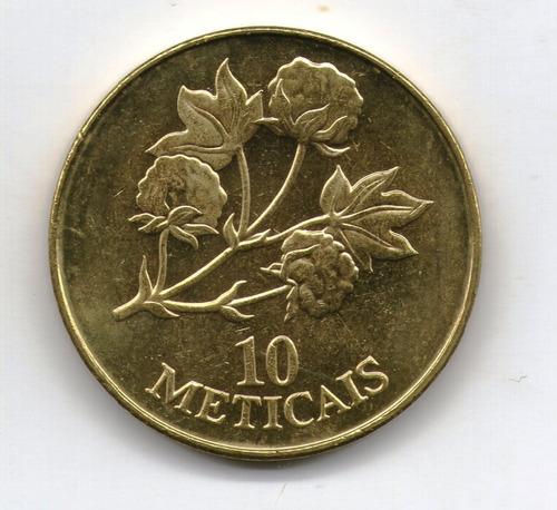 Mozambique Moneda 10 Meticais 1994 Unc Km#117 - Argentvs