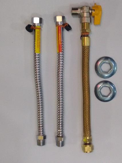 Kit Flexíveis Para Aquecedor A Gás