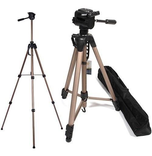 Tripe Para Câmeras E Filmadoras Weifeng Wt3770 Alt Max 1,66m