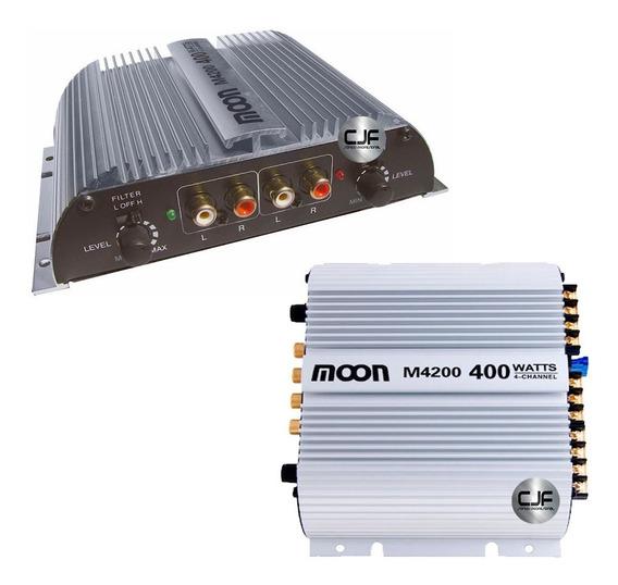 Potencia Amplificador De Auto Moon M4200 4 Canales 400 W Cjf