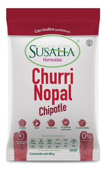 Churrinopal Chipotle 80g Caja 12 Pzs