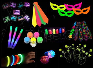 Kit Festa Neon 169 Adereços Brilha Luz Negra * Completo*