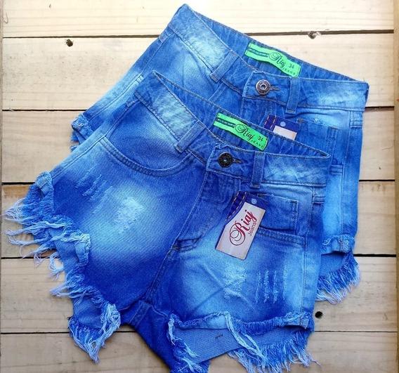 Shorts Short Bermuda Jeans Feminina Hot Pant Cintura Alta An