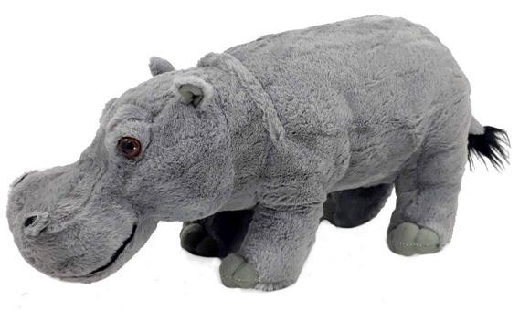 Hipopótamo De Pelúcia 43 Cm Antialérgico Lavável Muito Lindo