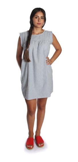 Vestido Ines Lino Dama Rayas - Tienda Ecuestre