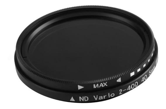 Filtro Nd Variável Nd2 A Nd400 62mm + Case Nikon Canon Sony
