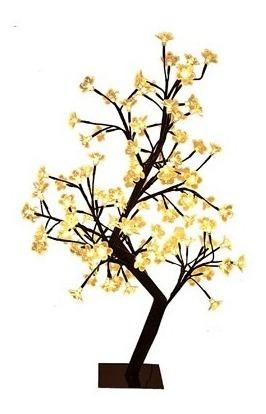 Árvore Luminária Flor Cerejeira 112 Leds Quente 127v