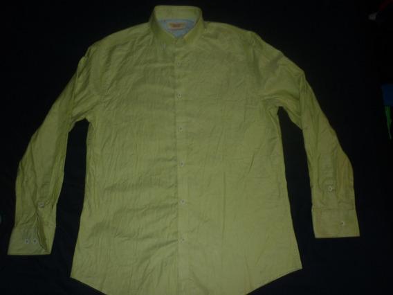 L Camisa Penguin Slim Fit Talle M Verde Nueva Art 64231