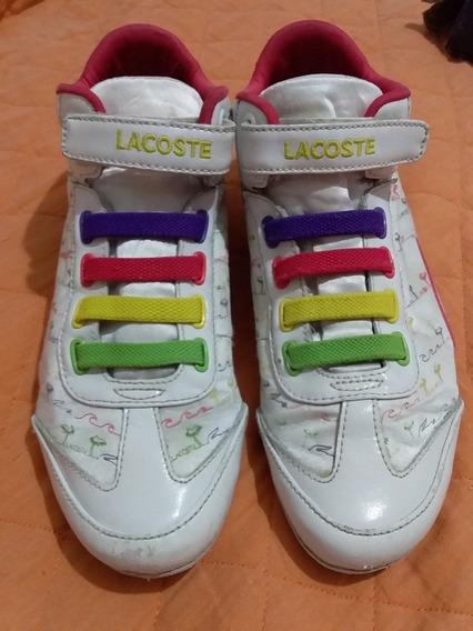 Zapatillas Lacoste Mujer 37 Importado
