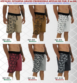 Kit 2 Bermudas Moletom No Pain No Gain Hard Core Style