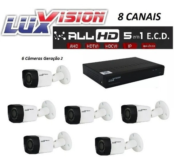 Kit Segurança Dvr 8 Ch 5x1 6 Camera 3x1 All Hd Ecd Luxvision