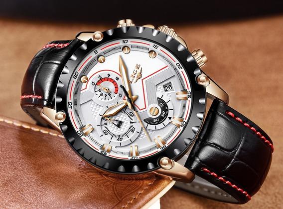 Relógio De Pulso Masculino/feminino Lige Luxo For Dream §