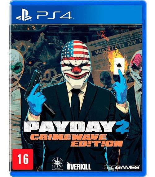 Jogo Payday 2 Crime Wave Edition - Ps4 - Mídia Física