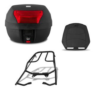 Bau Moto 28 Litros Pro Tork + Suporte Fan 125/150 2014/15