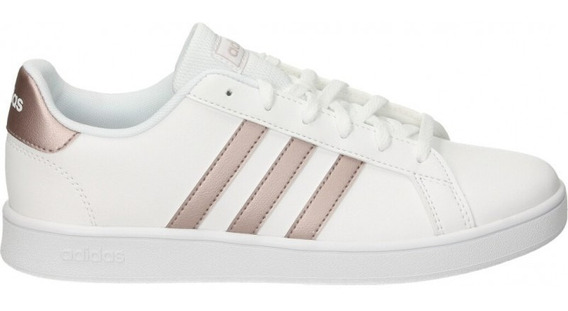 Tenis adidas Grand Court K Blanco Ef0101