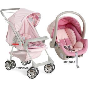 87154812bc Carrinho De Bebê Galzerano Roxo Com Rosa - Brinquedos para Bebês no ...