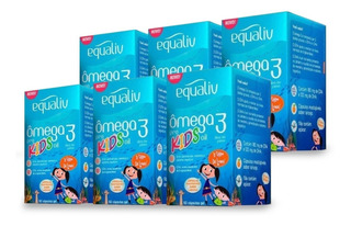Kit 6 Potes Ômega 3 Kids 60 Capsulas Equaliv