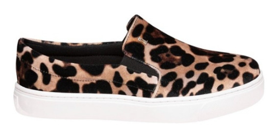 Tênis Slip On Aveludado Animal Print Santa Lolla