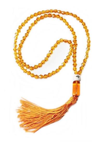 Japamala 108 Contas De Cristal 6mm Dourado
