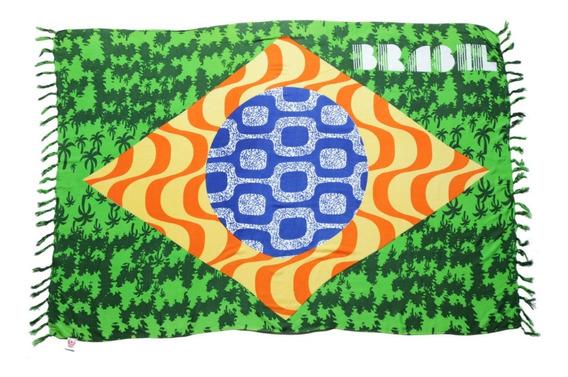 Canga De Praia Grande Painel Bandeira Brasil Rio De Janeiro