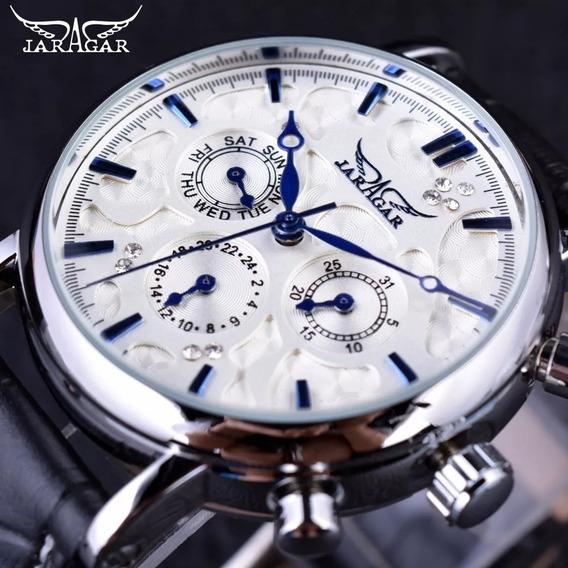 Relógio Masculino Jaragar Céu Azul Automático Design Elegan